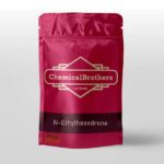 High purity, lab grade bag of N-Ethylhexedrone product